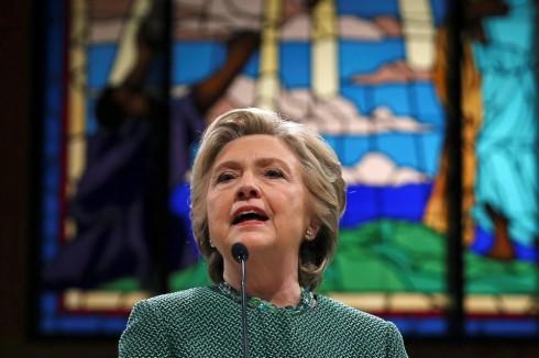 Hillary preach